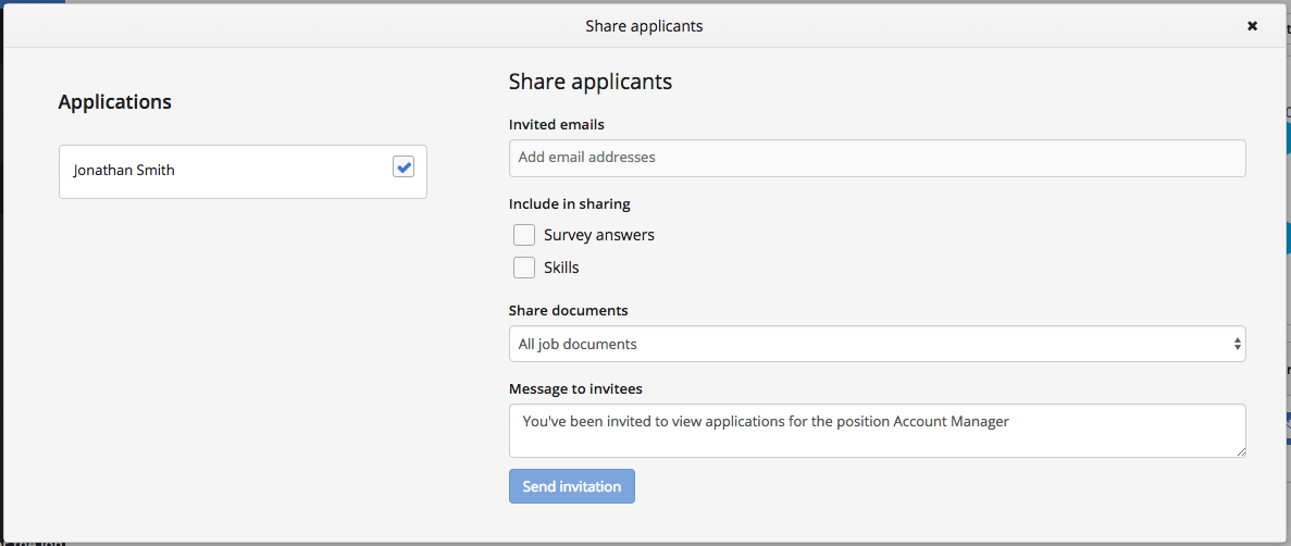 Share Candidate Workbuster