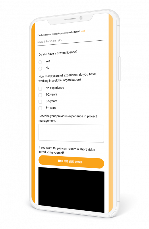 Urvalsfrågor i ansökningsformulär